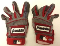 Miguel Sano Signed 2013 Minor League Game Used Batting Gloves – Red/Gray