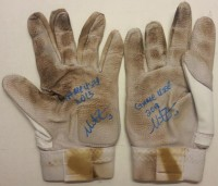 Mike Zunino Signed Game Used Batting Gloves