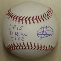 Yordano Ventura Signed Baseball – Let's Throw Fire